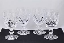 "SET OF 4 WATERFORD CRYSTAL DONEGAL 4-3/4"" CLARET WINE GLASSES #2 - MINT"