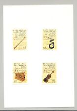 Maldives #1102-1106 Bach, Composer, Music 4v & 1v S/S Imperf Proofs on 2v Cards