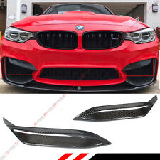 FOR 2015-18 BMW F80 M3 F82 F83 M4 CARBON FIBER FRONT BUMPER UPPER EYE LID COVERS