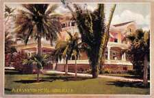 Honolulu Hawaii Plesanton Hotel Exterior View Antique Postcard J79945