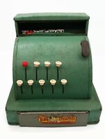 Vintage Western Stamping Tom Thumb Child Kid Green Metal Cash Register Rustic
