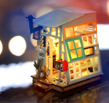 ROBOTIME Wood DIY House Kit Dollhouse Miniature Birthday Gift for Women Friend