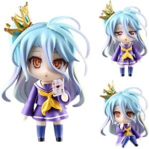 NO GAME NO LIFE Shiro Nendoroid 653 Doll PVC Action Figure Collectible Model Toy