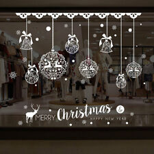 Christmas Balls Window Glass Wall Sticker Removable DIY PVC Shop Xmas Decals