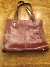 Fossil Whiskey Dark Brown Leather Large Tote  Bag ZB9010