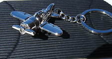 Chrome Metal Keychain Propeller Airplane Keyring Gift Boxed BRAND NEW