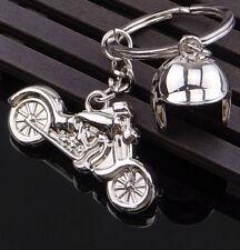Creative Motorcycle Helmet Keycha 00001A0D in Ring Keyring Key Fob Funny New Gift Kk60