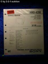 Sony Service Manual HMD A200 Computer Display (#1646)