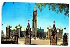 THE CANADIAN HOUSES OF PARLIAMENT - OTTAWA ONTARIO CANADA POSTCARD # P9709