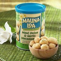 MAUI ONION & GARLIC * MAUNA LOA MACADAMIA NUTS 4.5 OZ