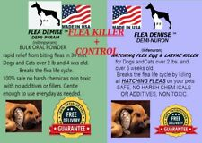 Instant Flea Killer 250 dose + Monthly hatching flea killer Dogs or Cats to 25lb