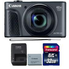 Canon Powershot SX730 HS Digital Camera (Black) and 32GB Memory Card