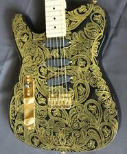 Customized left hand SR-RTL electric guitar water transfer style ,3S ,gold parts