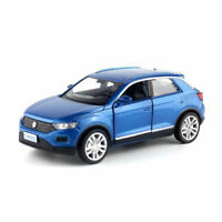 Volkswagen T-ROC SUV Off-road 1:36 Model Car Diecast Toy Vehicle Kids Gift Blue