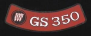 BUICK 1970-1971 GS 350 Air Cleaner Decal, Red on Silver