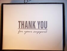 Thank You Note Cards 12 Support  Notecards Business Professional