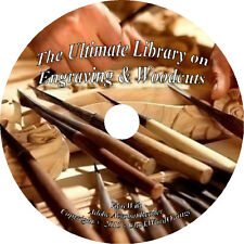 71 RARE Books on DVD Engraving & Woodcuts, Wood Engraver How to Art Etching