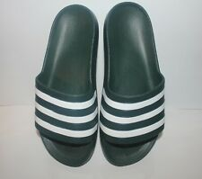 ADIDAS Adilette aqua Legend Ivy  green slip on Flip Flops Sandals SIZE 7 f35537