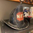 Vintage Leather Cairns High Eagle Fire Helmet