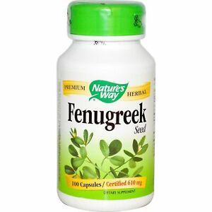 Nature's Way Fenugreek Seed (610mg) - 100 Veggie capsules - Natures Way