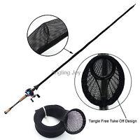 Details about  /Lot 10 Black Casting Fishing Rod Pole Sleeves Baitcast Pole Sock Jacket Glove