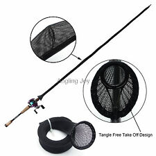 Tangle Free Casting Fishing Rod  Jacket Cover Sleeve Pole Glove Sock