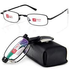 Leather Case Portable Folding Coated Reading Glasses +1 +1.5 +2 +2.5 +3 +3.5 +4