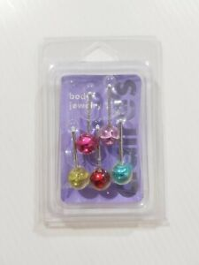 New Claire's Women's Girls Body Jewelry Tongue Earings Piercing Rose Multicolor