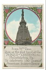 Vintage Postcard Philadelphia PA Sesqui Centennial Exposition 1926 Wm Penn