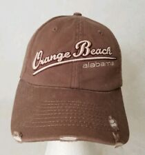 Orange Beach Alabama Strapback Tourist Baseball Cap Hat Brown Marco Destin