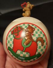 1986 Hallmark Baby's First Christmas Satin Ball Ornament