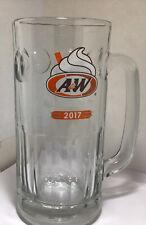 "2017 A & W Restaurant Root Beer Logo Heavy Glass Mug 7"" All American Food"