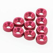 10PCS ALIENTAC M2 x 6mm x 2mm Aluminum Red Counter-Sunk Screw Washers