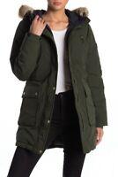 Michael Kors Missy Down Filled Faux Fur Hood Anorak Luxury Women's Jacket Coat S