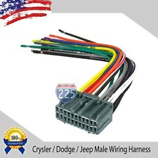 Car Stereo Wiring Harness Factory Radio Male Plug Chrysler Dodge Jeep 2002 & UP