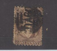 New Zealand 1871 1d Brown Chalon Perf 10 x 12 1/2 SG128 Used JK1198