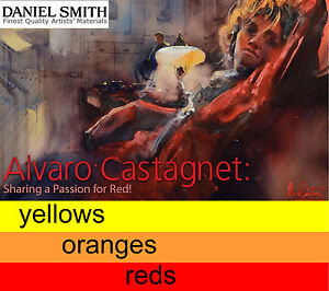 Daniel Smith extra fine artist watercolour 15ml - yellows, oranges, reds