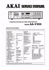 Akai Service Manual für Model  AA-V 205