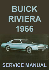BUICK RIVIERA WORKSHOP MANUAL: 1966