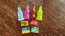SODA BOTTLES KIT x4 dolls house 12th scale 1:12th modern cafe shop grocery UK
