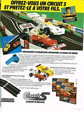 PUBLICITE ADVERTISING 094  1979  MECCANO  jeux jouets  CIRCUIT S