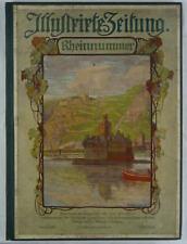 Illustrirte Zeitung. Rheinnummer. 1908. Folioband mit zahlreichen Bildern