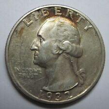 1932-D Washington Quarter Nickel - Key  Coin - AU