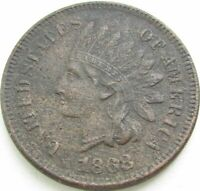 1868 Indian Head Penny / Small Cent in SAFLIP® - AU- (XF+) Details