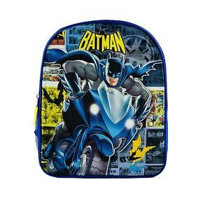 "DC Comics Batman 15"" School Backpack for Boys, Kids Cartoon Book Bag"