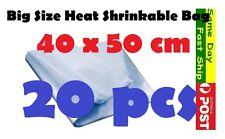 .20x Heat Shrink Large Bag Wrap Film 40x50cm Seal Gift Packing PVC Shrinkable AU