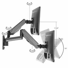 SIIG High Premium Aluminum Gas Spring Wall Mount - Dual Monitor (CE-MT2M12-S1)