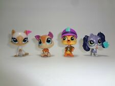 Littlest Pet Shop Figures LOT of 4 fox squirrel pig cat dog bobbie LPS