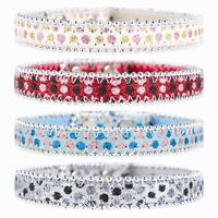 Dog Puppy Bold Durable Sparkly Dog Collar (White,Blue,Red &Grey)(small & large)