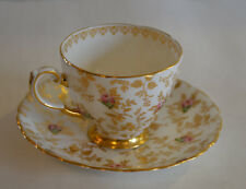 VINTAGE TUSCAN FINE BONE CHINA DUBERRY ROSE CUP WITH SAUCER